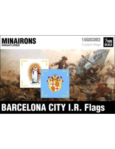 1/100 Barcelona City IR flags