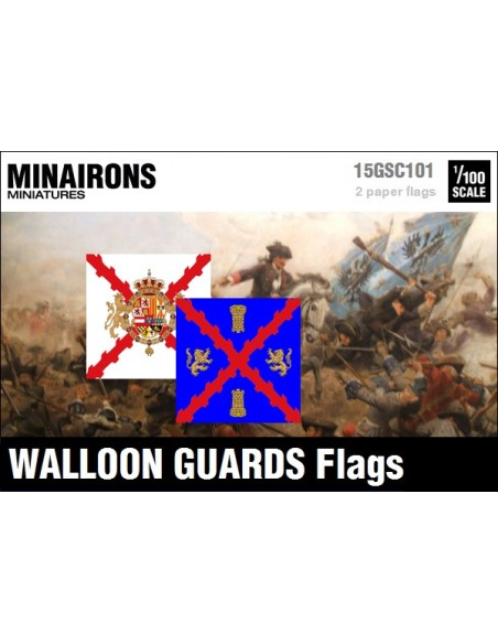 1/100 Walloon Guards flags