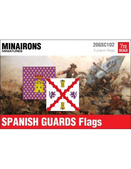 1/72 Spanish Guards flags
