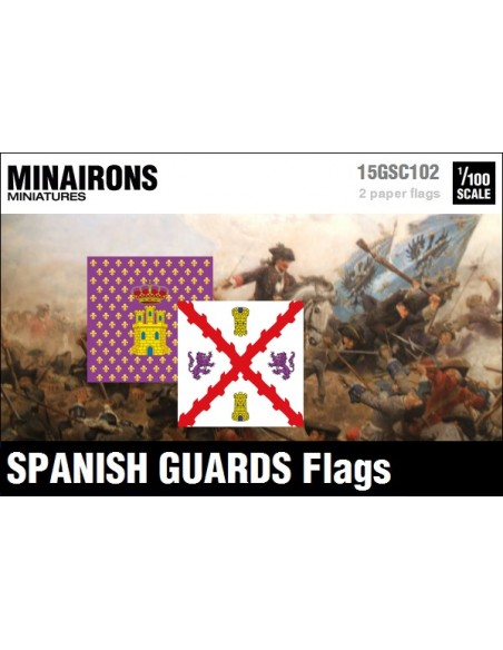 1/100 Spanish Guards flags