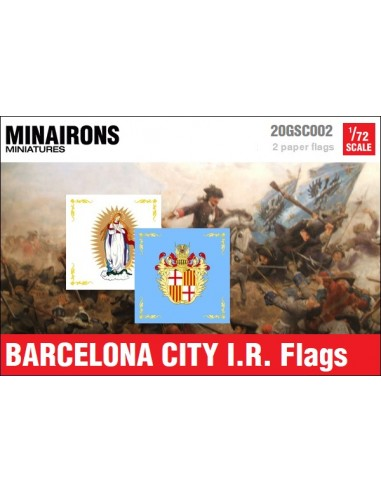 1/72 Barcelona City IR flags