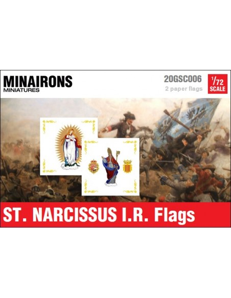 1/72 St. Narcissus IR flags