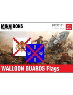 1/72 Walloon Guards flags