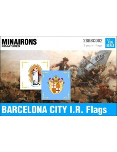 1/56 Barcelona City IR flags