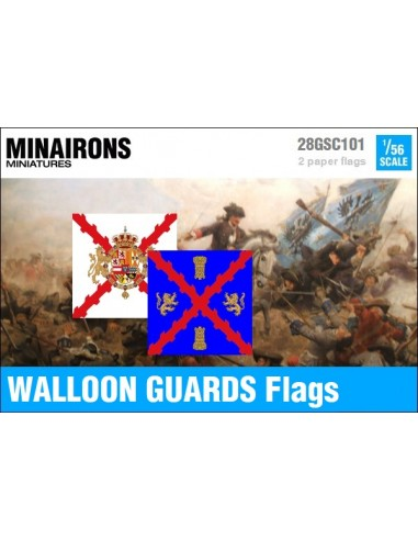 1/56 Walloon Guards flags