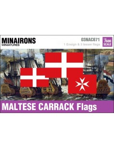 1/600 Maltese Carrack flags