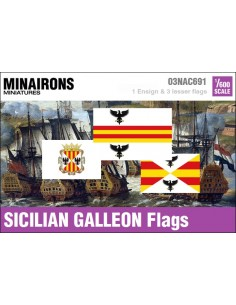 1/600 Sicilian Galleon flags