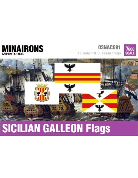 1/600 Sicilian Galleon flags