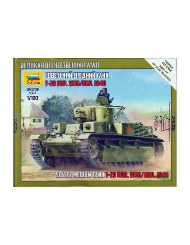 1/100 T-28 Tank - Boxed kit