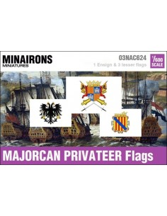1/600 Majorcan Privateer flags