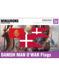 1/600 Danish Warship flags