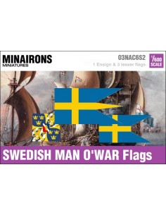 1/600 Swedish Warship flags
