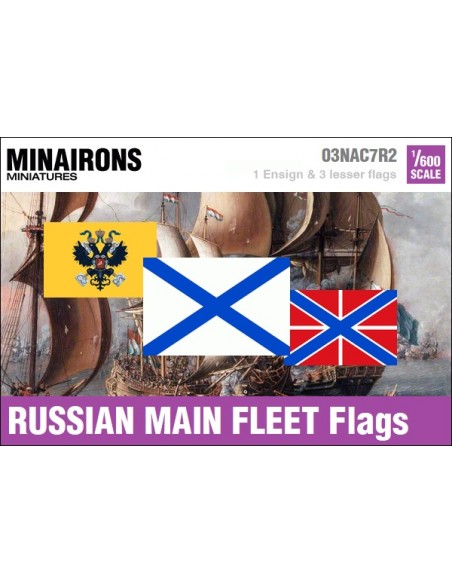 1/600 Pabellón de la escuadra blanca de Rusia