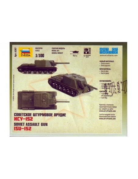 1/100 Cañón autopropulsado ISU-152 - Caja de 1
