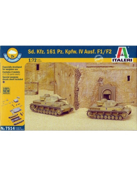 1/72 Panzer IV F1/F2 - Boxed set