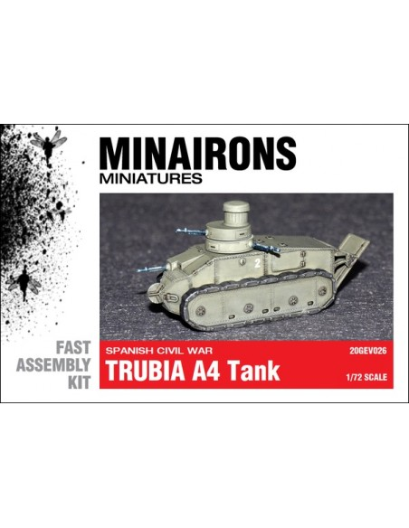 1/72 Trubia A4 tank - Boxed kit