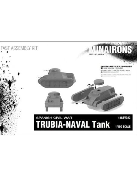 1/100 Tanc Trubia-Naval - Capsa de 2