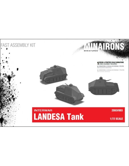 1/72 Landesa Tank - Boxed kit