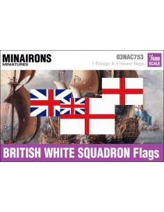 1/600 British White Squadron flags