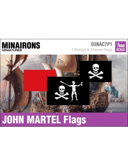 1/600 Pabellón pirata de John Martel