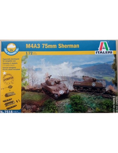 1/72 M4A3 Sherman tank - Boxed set