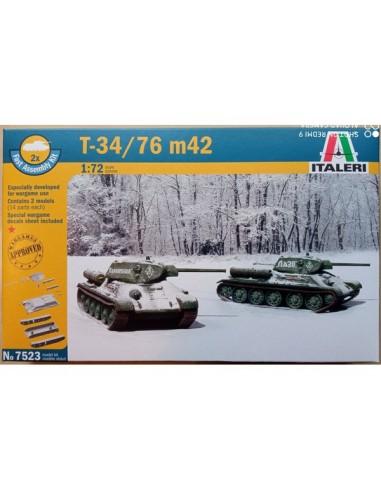 1/72 Carro T-34/76 modelo 1942 - Caja de 2