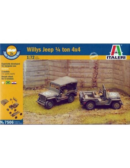 1/72 Jeep Willys 4x4 - Caja de 2