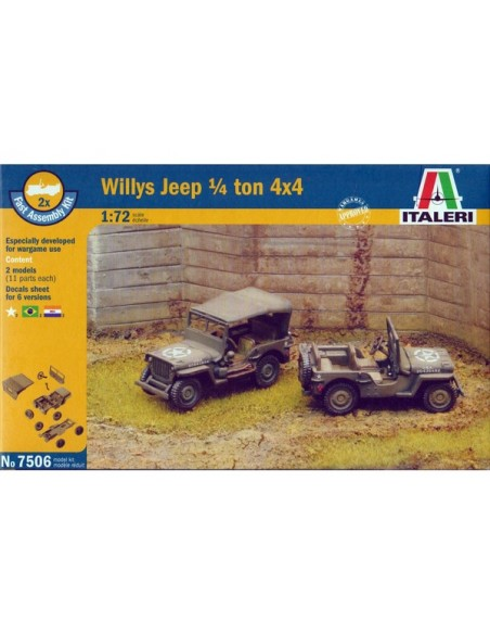 1/72 Willys Jeep 1/4ton 4x4 - Boxed set