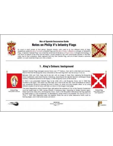 Philip V's infantry flags