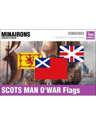 1/600 Scots Man-of-war flags