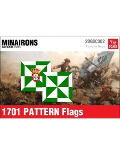1/72 1701 pattern Infantry flags