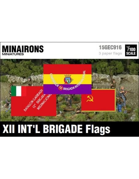 1/100 XII International Brigade Flags