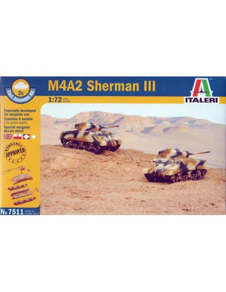 1/72 Carro M4A2 Sherman III - Caja de 2