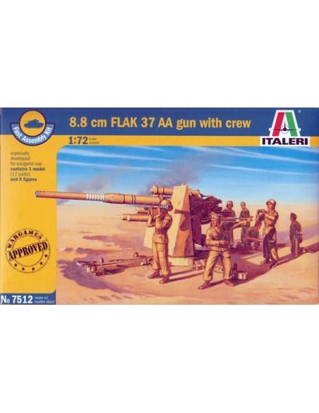 1/72 Flak 37 de 88mm y dotación - Caja de 1