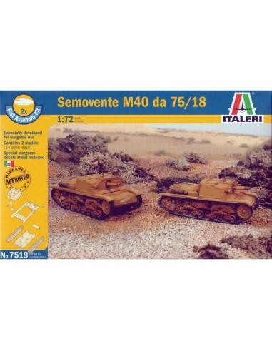 1/72 Semovente M40 da 75/18 - Caja de 2