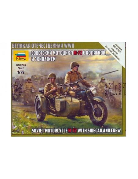 1/72 M-72 Soviet motorcycle