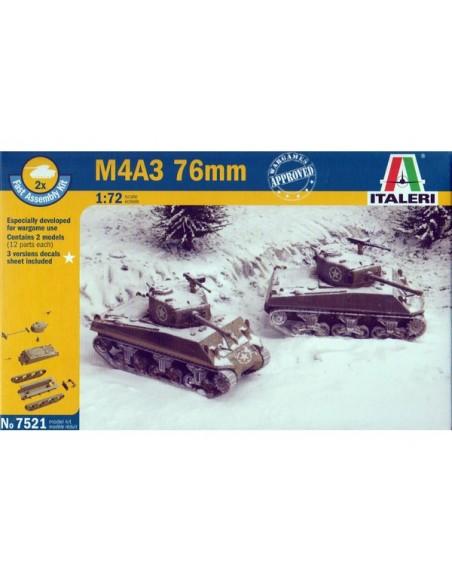 1/72 Tanc M4A3 Sherman 76mm - capsa de 2