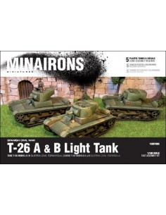 T-26 A & B Light Tank - 1/100 scale
