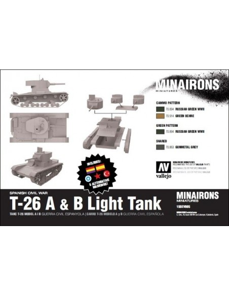 T-26 A & B Light Tank - 1/100 scale