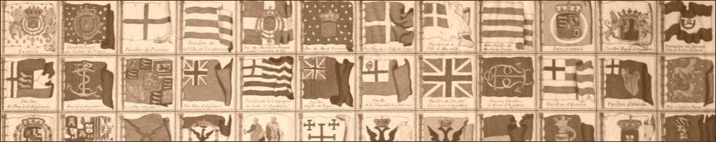 pabellones navales del siglo XVIII a escala 1/600